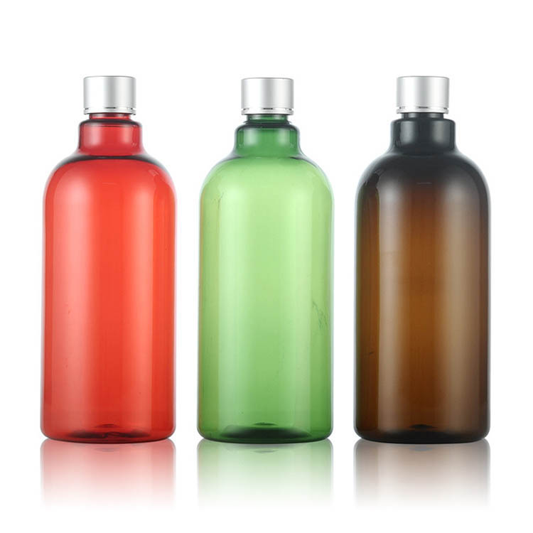 500 Ml Longer Body Bottle with Alumite Screw Cap/ Pet Plastic Bottle/Lotion Liquid Bottle