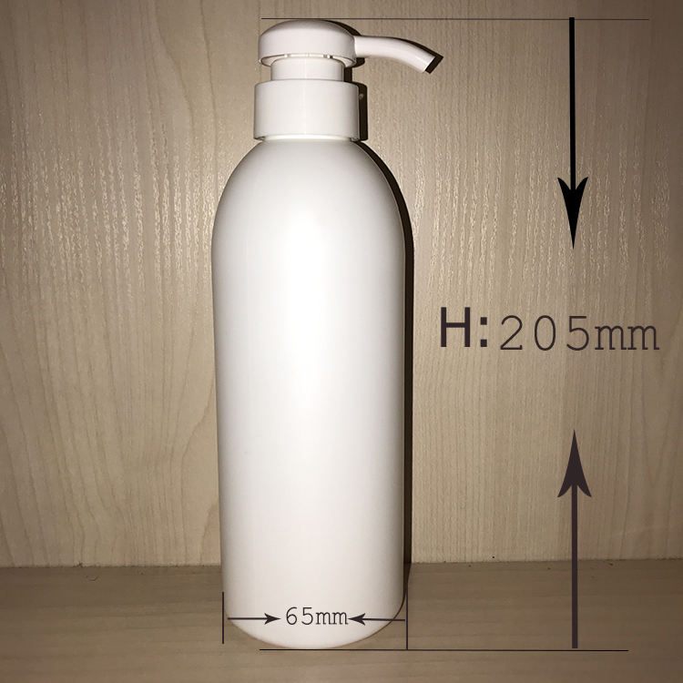 HDPE Big Size 500ml Shampoo Shower Gel Plastic Bottle