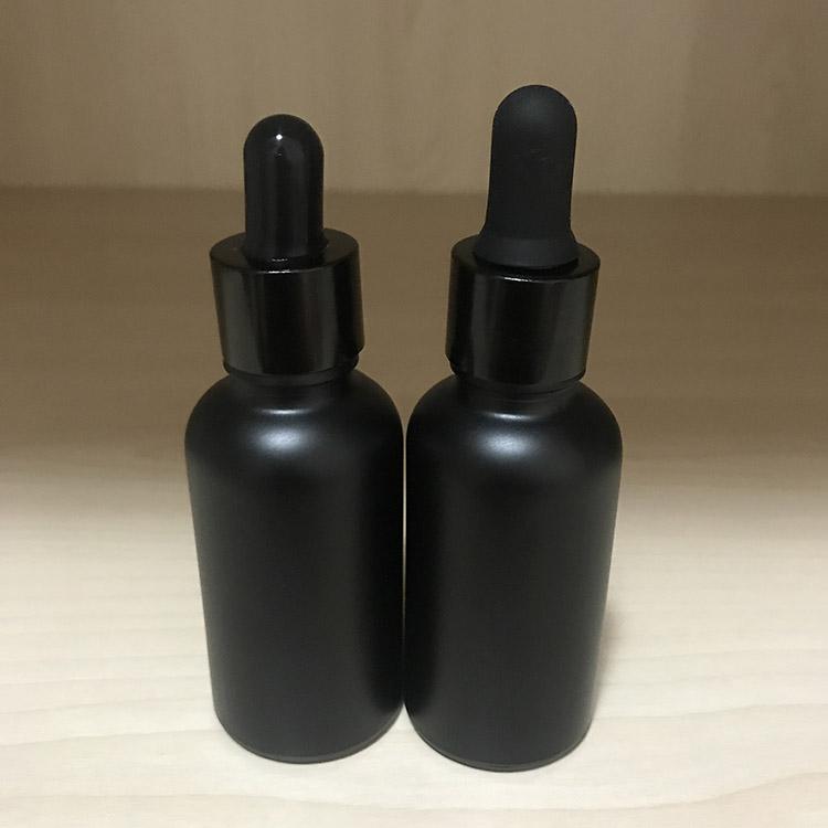 30ML Matt black Skin Care Perfume Oil 30ml Glass  Bottle