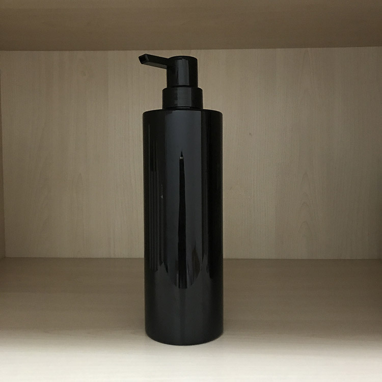 800ML PET Black color plastic bottle  with pump