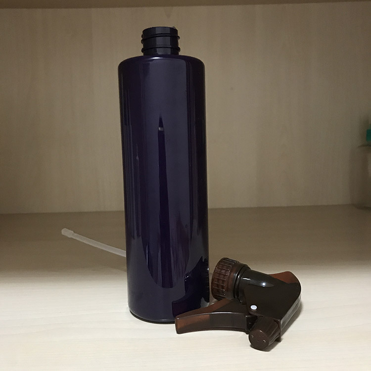 500ML Pet purple color plastic bottlw with trigger gun